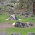 Group site.- Chimney Rock Campground