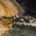 The pools are fed by a thermal water source that flows downhill and cascades from above.- Buckeye Hot Springs