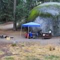 Azalea Campground in Kings Canyon National Park.- Azalea Campground