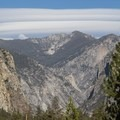 "The ""Sierra Wave"" formed by strong winds aloft taking shape over Kings Canyon's high country, as seen from near Canyon View Campground.- Canyon View Group Campground"