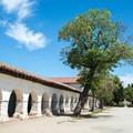 Front of Mission San Juan Bautista.- Mission San Juan Bautistia