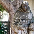 In the garden at Mission San Juan Bautista.- Mission San Juan Bautistia