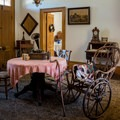 Inside the Zanetta House.- San Juan Bautista Historic State Park