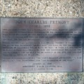 John Fremont plaque.- Fremont Peak Hike