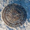 Survey marker on top of Fremont Peak.- Fremont Peak Hike