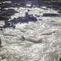 Crossing the Sandy River.- Timberline Trail