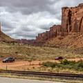 Approaching Long Canyon Road from UT-279.- Long Canyon