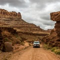 The access into Long Canyon can be an adventure by itself.- Long Canyon