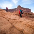 The climb at the beginning of the hike.- Reflection Canyon