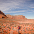 Retracing the route on the hike back out.- Reflection Canyon