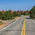 Main campground road.- Devils Garden Campground