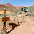 Monument Creek Camp is most easily accessed by the Hermit Trail to Tonto Trail.- Monument Creek Campsites