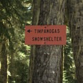 Sign for Timpanogas Shelter.- Timpanogas Shelter