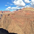 West facing view from Plateau Point.- South Kaibab + Bright Angel Trails