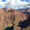 Northeast view from Plateau Point.- South Kaibab + Bright Angel Trails
