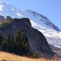 Mount Rainier (14,411') from Summerland.- Summerland + Panhandle Gap
