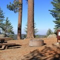 A campsite with a view in Sunset Campground, Kings Canyon National Park.- Sunset Campground