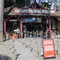 A non-crowded entry at the Capilano Suspension Bridge Park.- Capilano Suspension Bridge Park