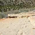 Tracks of prehistoric reptiles that slid down the sand dunes are now frozen in time.- Hermit Trail