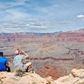 Look Out Rock is a spectacular lunch location midway down the trail.- Hermit Trail