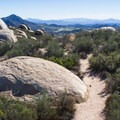 Typical section of trail.- Potato Chip Rock, Mount Woodson