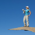 With careful cropping, the rock seems more precarious than it really is.- Potato Chip Rock, Mount Woodson