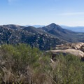 View from the trail.- Potato Chip Rock, Mount Woodson