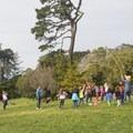 Entertainment near Koret Children's Playground.- Golden Gate Park