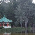 The Chinese Pavilion at Stowe Lake in Golden Gate Park.- Golden Gate Park