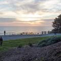 Sunset over the Pacific at Sutro Heights Park.- Sutro Heights Park