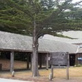 Park entrance and visitor center. - Fort Ross State Historic Park