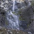 Snoquera Falls from the scramble trail.- Snoquera Falls Loop