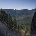 Peek-a-boo views of surrounding peaks.- Snoquera Falls Loop