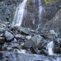 Snoquera falls outlet.- Snoquera Falls Loop