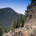 Talus slope on the way down.- Snoquera Falls Loop