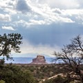 View on the return trail to the west.- Aztec Butte