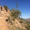 Sections of the Cholla Trail are steep.- Cholla Trail
