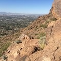 Scottsdale stretches out below Camelback Mountain.- Cholla Trail