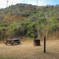 Typical open site.- Reef Campground