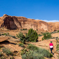 The scenery along the trail is outstanding.- Corona Arch Trail