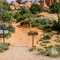Trailhead on the campground loop.- Broken Arch Trail