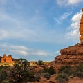 The scenery in the Klondike Bluffs is as beautiful as any in Arches.- Klondike Bluffs Trail + Tower Arch Hike