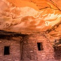 The roof has an amazing color when lit by light reflecting from the floor and walls.- Road Canyon