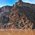 This camp is located next to Granite Rapid in the bottom of the Grand Canyon.- Granite Rapid Camp
