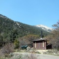 Impressively clean vault toilets come with a view.- Upper Lehman Creek Campground