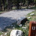 Several sites have gravel driveways that are suitable for RV parking.- Upper Lehman Creek Campground