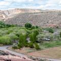 Fruita Campground is an oasis.- Fruita Campground