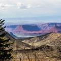 View of Castle Valley below.- La Sal Mountains Scenic Loop