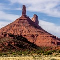 Priest and Nuns formations in Castle Valley.- La Sal Mountains Scenic Loop