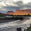 Colarado River north of Moab.- La Sal Mountains Scenic Loop